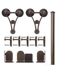 QG Rolling Door V-8 Hardware Short Bracket Kit Oil Rubbed Bronze