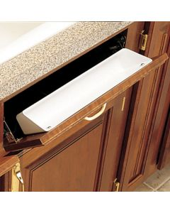 Sink Front Tray, White Polymer, 14""