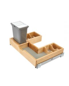 """Bottom Mount U-Shaped Vanity Pullout With Blum Soft-Close For 30"""" Sink Base, Maple 1"""