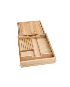 "Combination Knife Holder/Cutting Board Drawer w/ Blum Soft-Close Slides for 21"" Face Frame Cabinet 1"