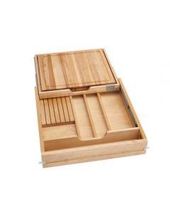 "Combination Knife Holder/Cutting Board Drawer w/ Blum Soft-Close Slides for 24"" Face Frame Cabinet 1"