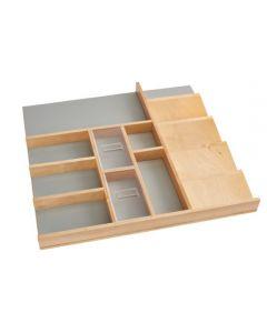 Natural Maple Trim-to-fit Vanity Drawer Organizer