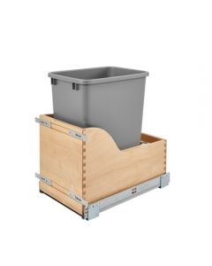 Single Soft-Close Reduced Depth Waste Container Pullout w/ Tandem Heavy-Duty Slides 1