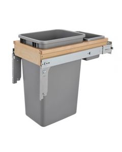 Top Mount Waste Pull Out, Single, 50qt
