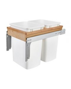 Top Mount Wood Waste Pull Out, Double, 35qt