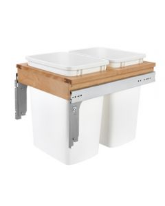 Top Mount Waste Pull Out, Double, 35qt