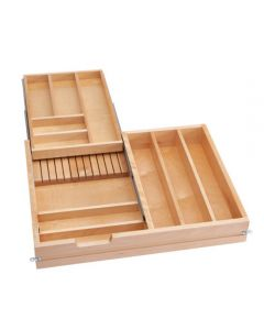 """Cutlery Drawer, Double Tiered Drawer for 30\"""" Drawer,With Soft Close Slides"""