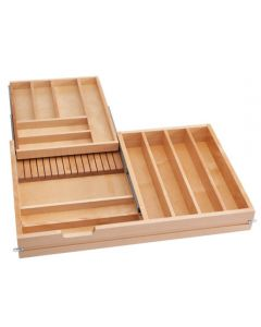 """Cutlery Drawer, Double Tiered Drawer for 36\"""" Drawer, With Soft Close Slides"""