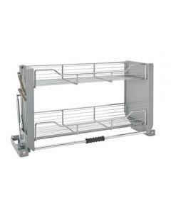 "Cabinet Pull-Down Shelf, Chrome, 36"""