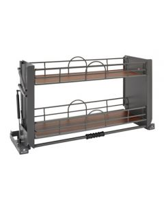 """Solid Bottom Pulldown Shelving System for Wall 36"""" Orion Gray"""