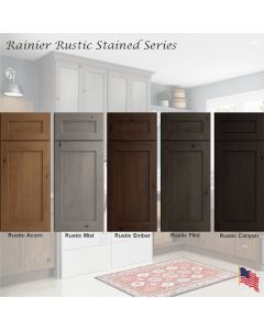 Rainier Rustic Stained Assembled Cabinet Series by Legend