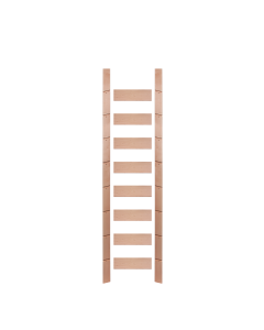 EG 107 In. Red Oak Ladder, Unassembled, Unfinished