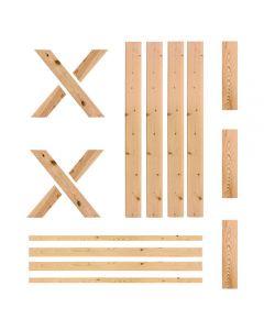 "RTA Barn Door, 36"" x 81"", Unassembled, Unfinished, Ponderosa Pine"