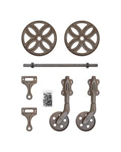 Railroad Cart Hardware Set, Rust 1