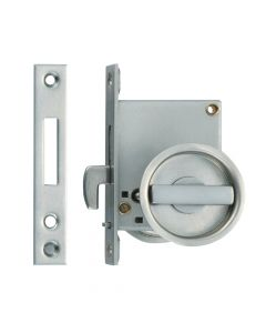 Non-Handed Sliding Door Latch with Thumbturn, Satin 1