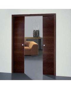 Synchronized Two-Door Sliding Door Hardware, 275 Lb. Per Door Capacity 1