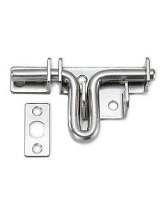 "Stainless Steel Gate Latch, 3-11/32"" wide"
