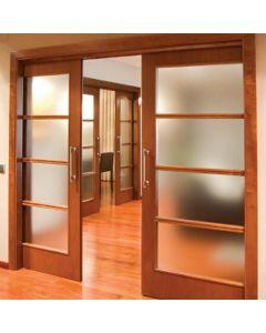 Soft-Close Synchronized Sliding Double Door Hardware, 176 Lb. Capacity Per Door 1