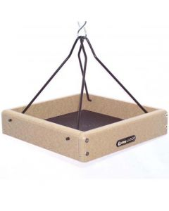 """RECYCLED 10"""" X 10"""" HANGING TRAY FEEDER"""