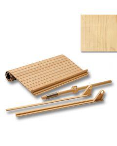 "Maple Solid Wood Tambour Door 15\"" W w/Almond Track Kit"