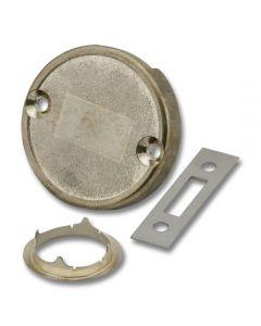 Drawer Lock Round Brass