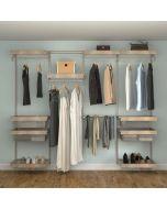 Closet Culture Heavy-Duty Modular Closet System, 8-Ft. Wide Kit