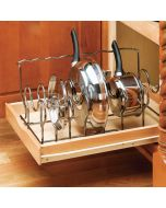 Cookware Organizer -Drop In - Chrome-Crominox Wire
