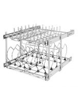 Two-Tier Cookware Organizer, Chrome, 21""