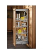 "Rev-A-Shelf 9"" Soft-Close Chrome Pantry Pullout w/4 Baskets"