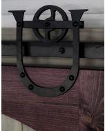 Rolling Door Hardware, Horseshoe, Black