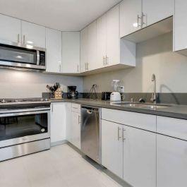 Kitchen Cabinets Modern Gloss White Kitchen Bath